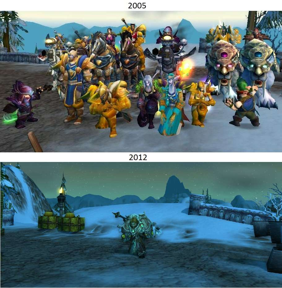 World of warcraft then and now