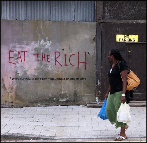 граффити eat the rich