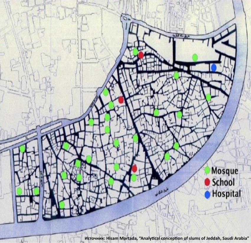 План одного из трущобных районов Джидды